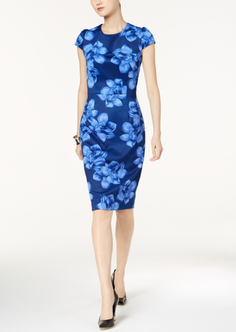 84287f41fde0 Betsey Johnson Betsey Johnson Floral-Print Knit Midi Sheath Dress ...