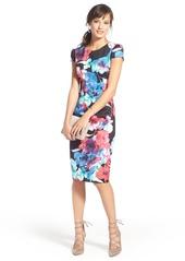 Betsey Johnson Floral Print Knit Sheath Dress