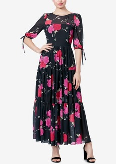 Betsey Johnson Floral-Print Maxi Dress
