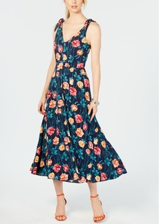 Betsey Johnson Floral-Print Midi Dress