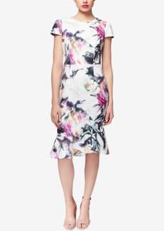Betsey Johnson Floral-Print Ruffle-Hem Dress
