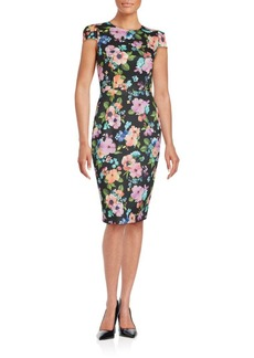 Betsey Johnson Floral Print Sheath Dress
