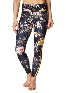 Betsey Johnson Floral-Print Side Striped Leggings
