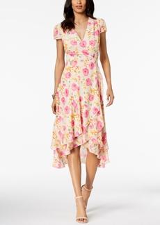 Betsey Johnson Floral-Print Wrap Dress
