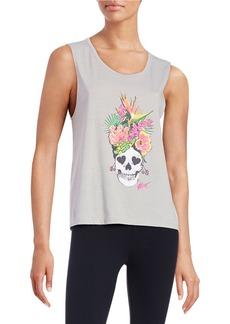 BETSEY JOHNSON Floral Skull Tank Top