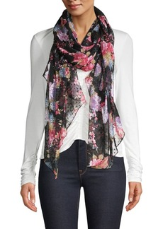 Betsey Johnson Floral Wrap-Around Scarf