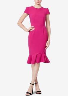 Betsey Johnson Flounce Scuba Sheath Dress