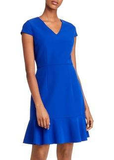 Betsey Johnson Flounced Hem V-Neck Dress