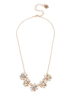 Betsey Johnson Flower Crystal Frontal Necklace