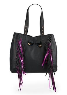 Betsey Johnson Fringe Shoulder Bag