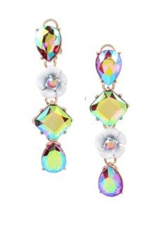 Betsey Johnson Fruit Flies Crystal Iridescent Mismatch Earrings