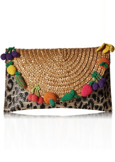 Betsey Johnson Fruit and  Straw Clutch