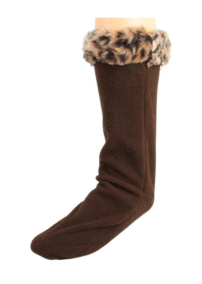 Betsey Johnson Fur Cuff Calf Length Welly Sock