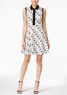 Betsey Johnson Geo-Print Scuba Fit & Flare Dress