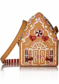 Betsey Johnson Ginger Bread House Bag tan