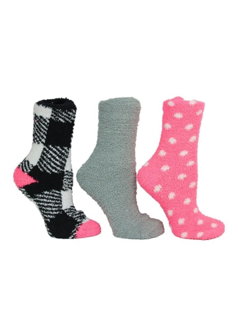 Betsey Johnson Gingham Cozy Sock Giftbox, 3-Pack