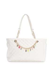 Betsey Johnson Give Me a B Quilted Satchel