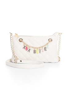 Betsey Johnson Give Me a B Quilted Shoulder Bag
