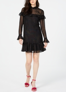 Betsey Johnson Glitter Ruffled A-Line Dress