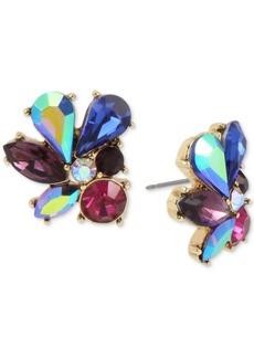 Betsey Johnson Gold-Tone Multi-Stone Cluster Stud Earrings