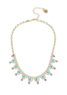 Betsey Johnson Granny Chic Crystal Frontal Necklace