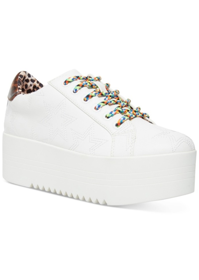 Betsey Johnson Groove Star Flatform Sneakers Women's Shoes