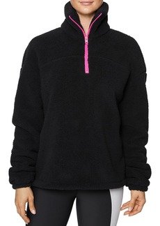 Betsey Johnson Half-Zip Fleece Jacket