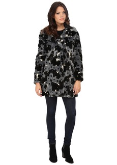 "Betsey Johnson ""Happy Flower"" Faux Fur"