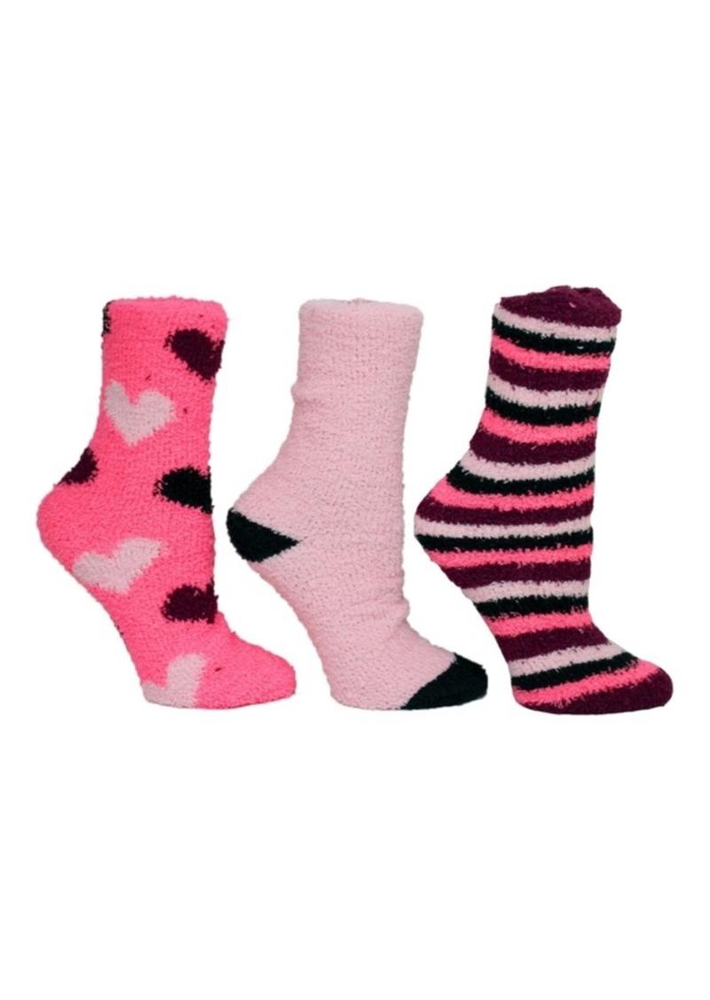 Betsey Johnson Heart Cozy Sock Giftbox, 3-Pack
