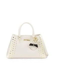 Betsey Johnson Hearts Fire Studded Satchel Bag