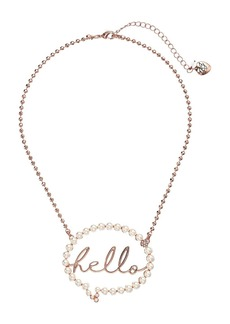"""Hello"" Bubble Pendant Necklace"
