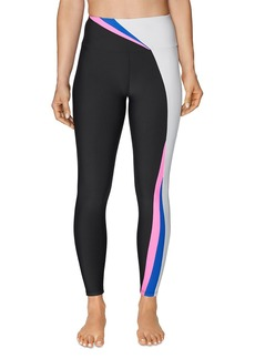 Betsey Johnson High-Rise Color-Block Leggings