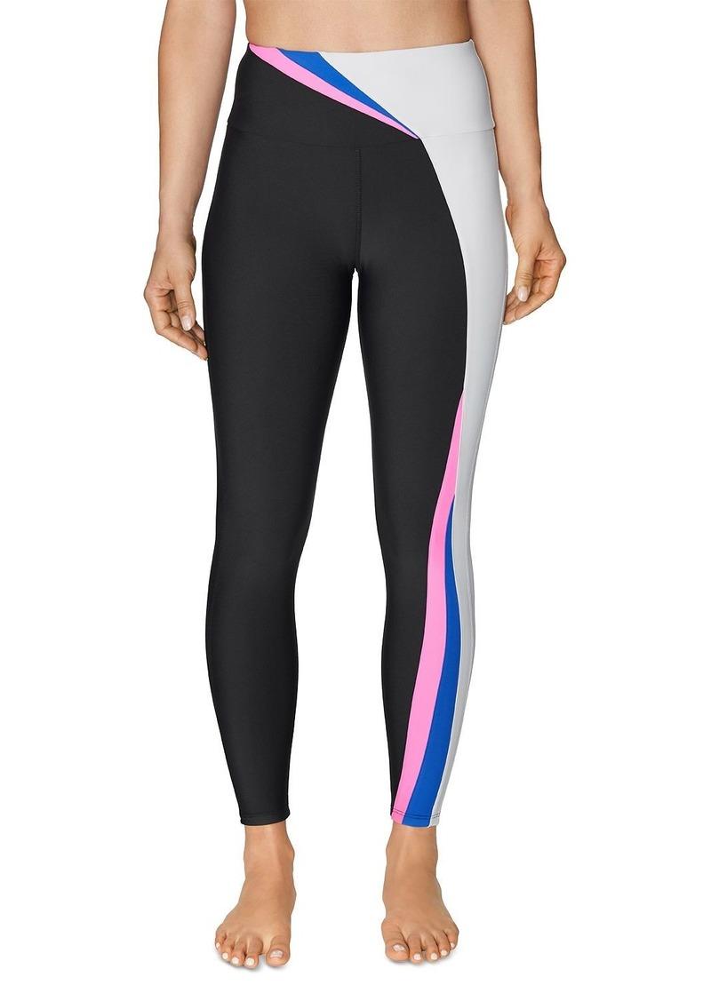 Betsey Johnson High-Rise Color-Block Leggings