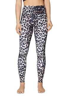 Betsey Johnson High-Rise Leopard Print Ankle Leggings