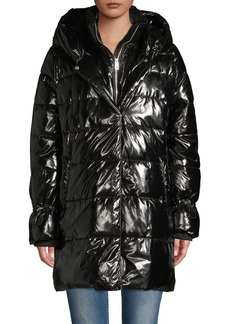 Betsey Johnson Hooded Puffer Coat