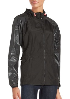 Betsey Johnson Hooded Ruffle Jacket