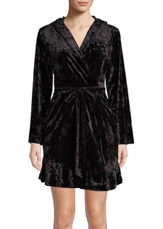 Betsey Johnson Hooded Velvet Robe