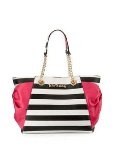 Betsey Johnson Hotty Pocket Bow Tote Bag