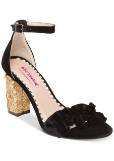 Betsey Johnson Ilana Block-Heel Sandals Women's Shoes