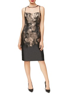 Betsey Johnson Illusion Jacquard Sheath Dress