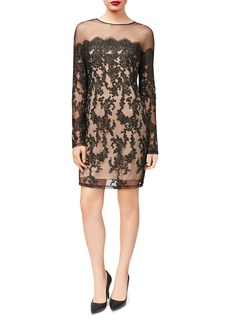 Betsey Johnson Illusion Lace Sheath Dress