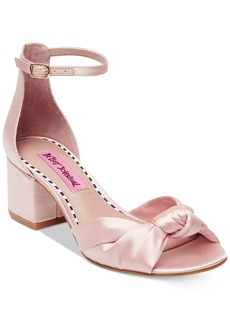 Betsey Johnson Ivee Block-Heel Sandals Women's Shoes