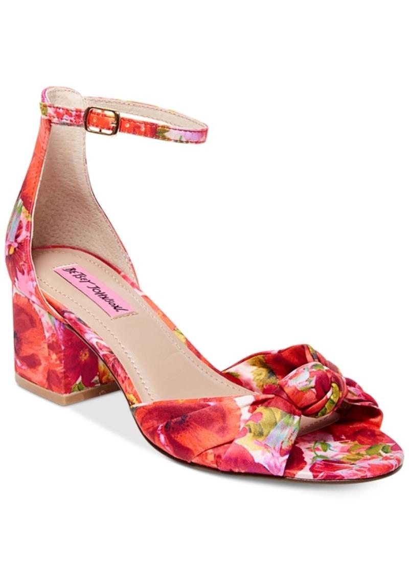Betsey Johnson Betsey Johnson Ivee Block-Heel Sandals ...