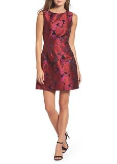 Betsey Johnson Jacquard Fit & Flare Dress