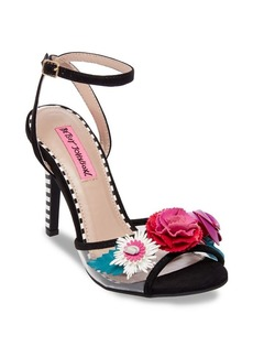 Betsey Johnson Jamie Striped Ankle-Strap Sandals