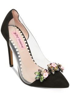Betsey Johnson Jane Lucite Pumps Women's Shoes