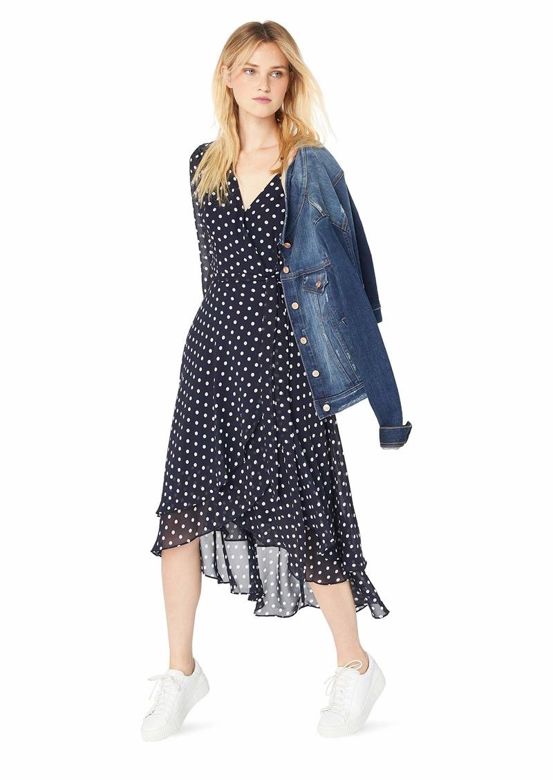 Betsey Johnson Junior's Long Sleeve Dot Wrap Dress