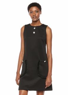 Betsey Johnson Junior's Scuba Shift Dress with Pockets