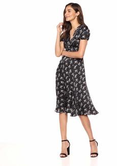 Betsey Johnson Junior's Vintage Bow Print Maxi Dress