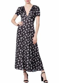 Betsey Johnson Junior's Vintage Bow Print Midi Dress